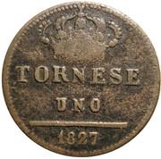 1 Tornese - Francesco I – revers