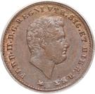 1 tornese - Ferdinando II – avers