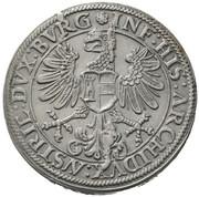 1 thaler Ferdinand I posthume Archiduc Ferdinand II (Hall) – revers