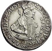 ¼ thaler Leopold V Landesfürst du Tyrol (1626 -1632) – avers