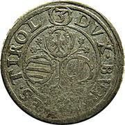 3 kreuzer Leopold V Gouverneur (1619-1625) – revers