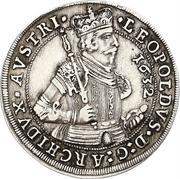½ thaler Leopold V Landesfürst du Tyrol (Hall) – avers