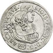 15 kreuzer Sigismund Franz (Hall) – avers