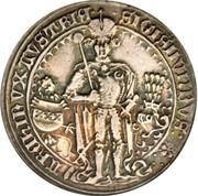 1 guldiner Sigismund (Hall) – avers