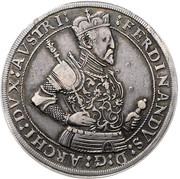 1 thaler Ferdinand II (Hall) – avers
