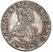 6 kreuzer Ferdinand II du Tyrol – avers