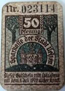 50 Pfennig Uelzen; Sparkasse 1920 – avers