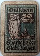50 Pfennig Uelzen; Sparkasse 1920 – revers