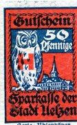50 Pfennig (Uelzen; Sparkasse) – revers