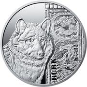 5 Hryven (Le loup gris) -  revers