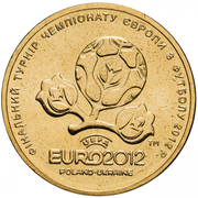 1 hryvnia (Euro de football 2012) – avers