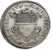 1 Ducat (Silver pattern strike; Augsburg Confession) – avers