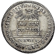 1 Ducat (Silver pattern strike; Augsburg Confession) – revers