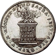 2 Ducat (Silver pattern strike; Augsburg Confession) – revers