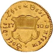 ½ Ducat (Augsburg confession) – avers
