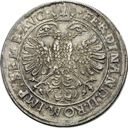 1 Thaler - Ferdinand II – revers