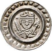1 Brakteat -  Konrad IV. und Elisabeth von Bayern – avers