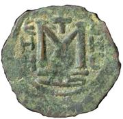 Fals - Muawiyah I - standing figure type - 659-680 AD (Arab-Byzantine) – revers