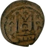 Fals - two standing figures type - 680 AD (Arab-Byzantine) – revers