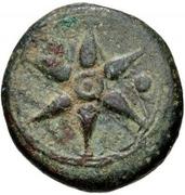 1 uncia (roue / ancre; frappé) – avers