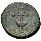1 uncia (roue / ancre; frappé) – revers