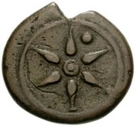 1 uncia (roue / hache; frappé) – avers