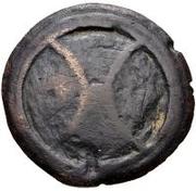 1 quadrans (roue archaïque / valuer) – avers