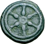 1 quartuncia (roue / hache; frappé) – avers