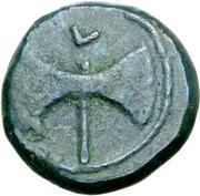 1 quartuncia (roue / hache; frappé) – revers
