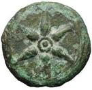 1 semuncia (roue / hache; frappé) – avers