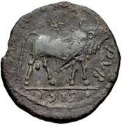 Æ bronze Au nom de Julian II, 361-363 (une étoile au dessus du taureau) – revers