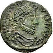 Æ bronze Au nom de Julian II, 361-363 (deux étoiles au-dessus du taureau; buste barbu) – avers