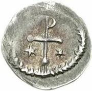 ¼ silique Au nom d'Inscription Sans Signification (staurogramme régulier avec extrémités arrondies) – revers