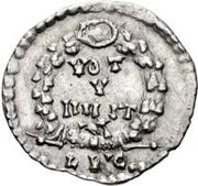 ½ silique Au nom d'Arcadius, 395-408 – revers