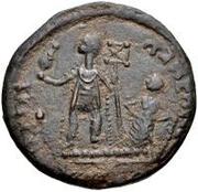 Æ bronze Au nom de Constantius II, 337-361 (bateau rond; avec étoile) – revers