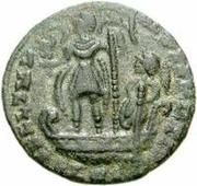 Æ bronze Au nom de Constantius II, 337-361 (bateau rond; sans étoile) -  avers