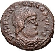 Æ bronze Au nom de Decentius, 351-352 – avers