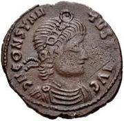 Æ bronze Au nom de Constantius II, 337-361 (bateau carré) – avers