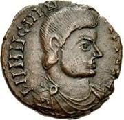 Æ bronze Au nom de Magnentius, 350-353 – avers