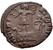 Æ bronze Au nom de Constantius II, 337-361 (bateau carré) – revers