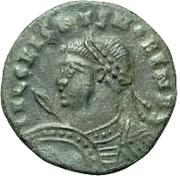 Æ bronze Au nom de Crispus, 317-326 – avers