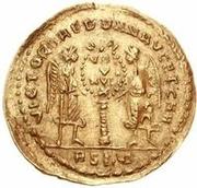 1 solidus Au nom de Magnentius, 350-353 -  avers