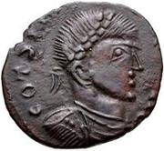 Æ bronze Au nom de Constantine I, 306-337 (buste face à droite; podium rempli) – avers