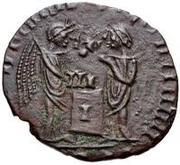 Æ bronze Au nom de Constantine I, 306-337 (buste face à droite; podium rempli) – revers