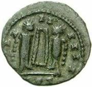 Æ bronze Au nom de Constantine I, 306-337 (buste face à droite; podium creux) – revers