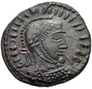 Æ bronze Au nom de Constantine I, 306-337 (buste face à droite; podium avec quatre sections) – avers