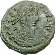 Æ bronze Au nom de Constantius II, 337-361 (bâtons simples) -  avers