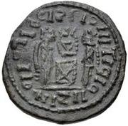 Æ bronze Au nom de Constantine I, 306-337 (buste face à droite; podium avec quatre sections) – revers