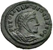 Æ bronze Au nom de Constantine I, 306-337 (buste face à droite; podium avec six sections) – avers