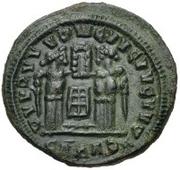 Æ bronze Au nom de Constantine I, 306-337 (buste face à droite; podium avec six sections) – revers